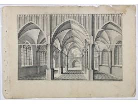 VREDEMAN DE VRIES, J. / HONDIUS, H. -  Perspective print by Vredeman de Vries. 47.