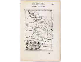 MANNESSON MALLET, A. -  France par Gouvernements Generaux. [de l'Europe / Figure LXVIII]