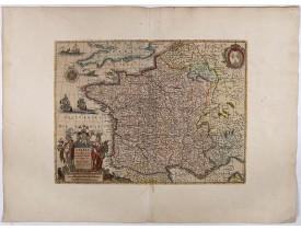 HONDIUS, H. -  Galliae supra omnes ... Exactissima descriptio. Auctore Henrico Hondio.