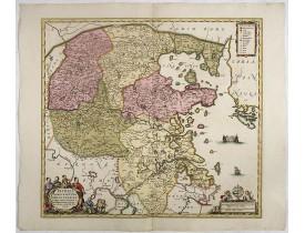 JANSSONIUS, J. -  Pecheli, Xansi, Xantung, Honan, Nanking, In plaga Regni Sinensis..