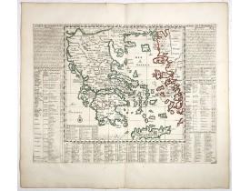 CHATELAIN, H. -  Carte historique et géographique de l'ancienne Grece . . .