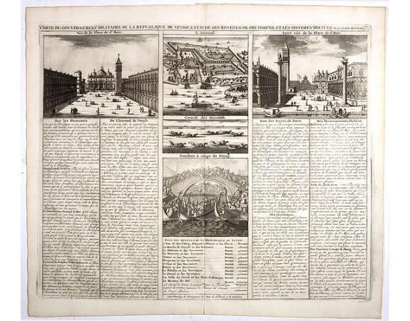 CHATELAIN, H. -  Carte du gouvernement militaire de la République de Venise . . .