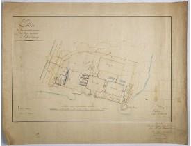 BERGERE, J. -  Plan de la nouvelle enceinte du Port-Militaire de Cherbourg.