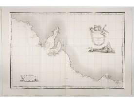 FREYCINET, M. L. -  Carte Generale de la Terre Napoleon (à la Nouvelle Hollande)... par M.L. Freycinet an 1808