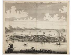 MONTANUS, A. -  The citie and Castle Zelandia in the Island of Taywan. / Stadt en casteel Zelandia op 't Eilant Taywan.