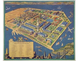 TAYLOR, R. -  A cartograph of Treasure Island in San Francisco Bay Golden Gate International Exposition;
