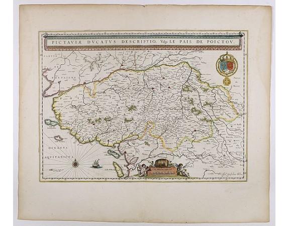 BLAEU, W. -  Pictaviae Ducatus Descriptio Vulgo le Pais de POICTOU.