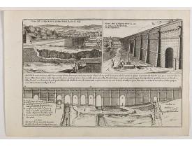 DE FER, N. -  Veüe de l'Aqueduc d'Arcüeil du côté du Midy / Veüe de l'Aqueduc, du côté du village d'Arcueil, ou du Septentrion . . .