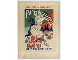 CHÉRET, J. -  Hippodrome de la porte Maillot. Paris Courses.