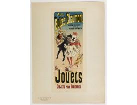 CHÉRET, J. -  Aux buttes Chaumont.