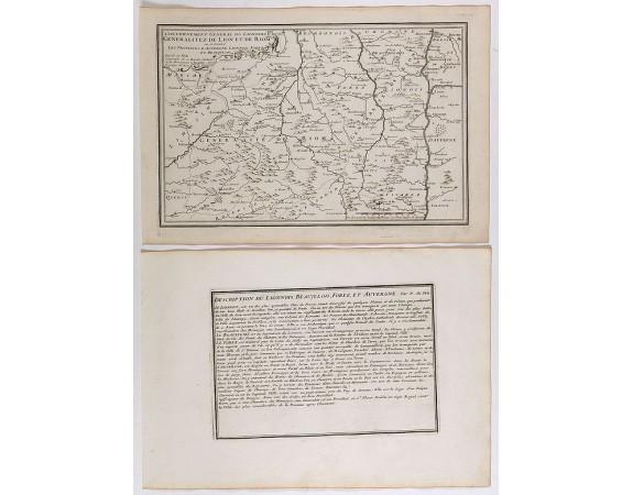 DE FER, N. -  Gouvernement general du Lionnois, generalitez de Lion et de Riom . . .