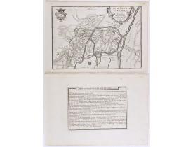 DE FER, N. -  Plan de la ville et du château de Caën en Normandie.