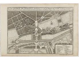 DE FER, N. -  Plan general de Chantilly . . .