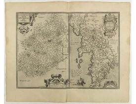 ORTELIUS, A. -  Cenomanorum... La Mans. / Neustria. Britanniae, et Normandi.
