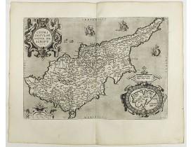 ORTELIUS, A. -  Cypri Insulae Nova descript. 1573.