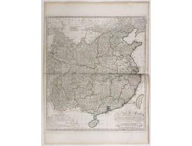 D'ANVILLE, J-B-B. -  Carte Generale de la Chine Dressée sur les Cartes Particulieres Que l'Empereur Chang-Hi a fait lever sur les lieux. . . .