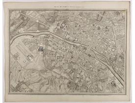 ROUSSEL, C. -  Plan de Paris Par Roussel Caqpt. Ingénieur en 1700.