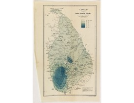THE SURVEY OFFICE. -  Ceylon showing annual average rainfall up to 1926 inclusive.