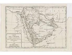BRION DE LA TOUR, Louis. -  Carte de L'Arabie, rédigée en grande partie d'après le voyge récent et les Cartes de M. Niebuhr par le Sr. Brion de la Tour. . .