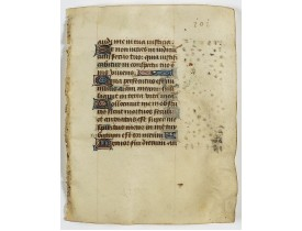 BOOK OF HOURS. -  Leaf on vellum from a manuscript Book of Hours.