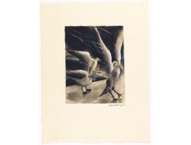 LYDIS, M. -  Dessins de Mariette Lydis pour illustrer les Fleurs du Mal. (PL II. L'Albatros).