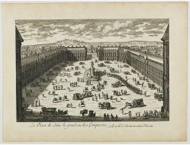 PERELLE, G. N. -  La Place de Loüis le grand ou des conquestes.