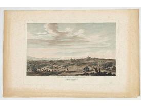 LESPINASSE, Chevalier De. -  Vue de la ville de Perpignan, du côté d'Espagne.