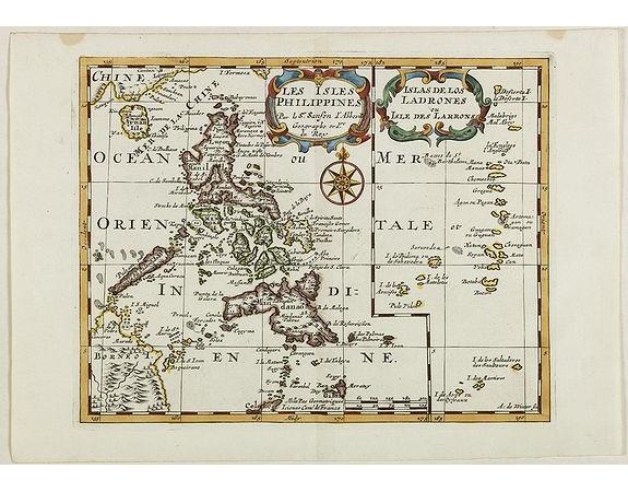 SANSON, N. -  Les Isles Philippines Molucques et de la Sonde.