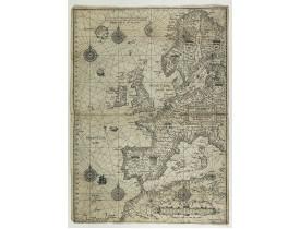 WAGHENAER, L. J. -  Universe Europae Maritime Eiusque Navigationis Descriptio. Generale Pascaerte van Europa . . .
