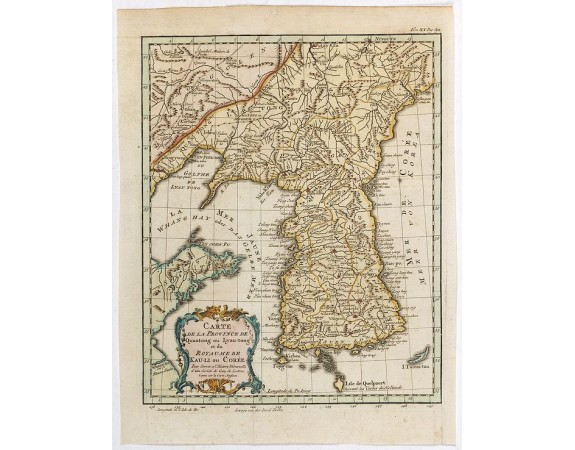 BELLIN, J.N. -  Carte de la province de Quan-tong, ou Lyau-tong et du Royaume de Kau-li. . .