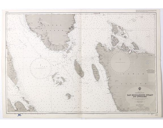 LONDON ADMIRALTY. -  China Sea Philippine Islands - San Bernandino Strait and approaches. (3370)