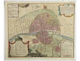 DELAMARE, N. -  Cinquieme plan de la ville de Paris. Son accroissement, et sa Quatrieme Clôture commandée sous Charles V l'an 1367 et finie sous Charles VI l'an 1383.
