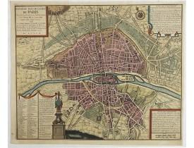 COQUART, A. -  Septième plan de la ville de Paris, son accroissement et ses embelisssemens sous Henry IIII et Louis XIII depuis 1589 jusqu'en 1643