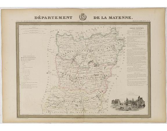 DONNET et MONIN. -  Département de La Mayenne.
