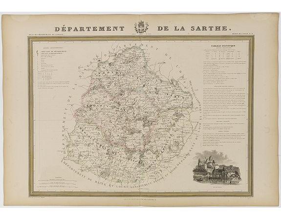 DONNET et MONIN. -  Département de la Sarthe.