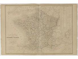 DONNET et MONIN. -  Carte itinéraire du Royaume de France . . .