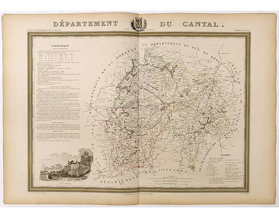 DONNET et MONIN. -  Département du Cantal.