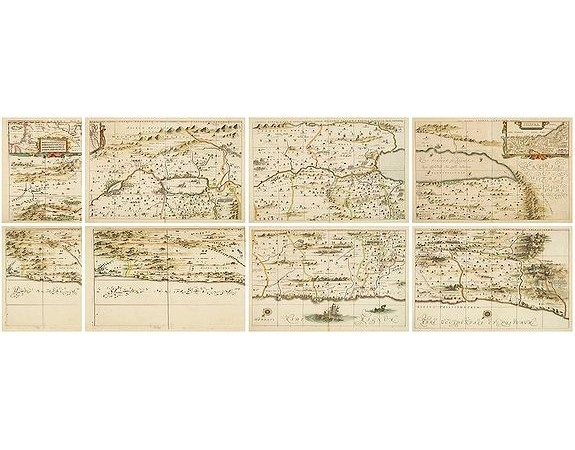 HORNIUS, G. -  Hornius Map of the Holy Land, Israel, and Palestine