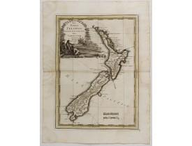 CASSINI, G. M. -  La nuova Zelanda delineate sulle ultima osservazioni del Capitan Cook.
