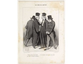DAUMIER, H. -  Encore perdu en Cour Royale .... et il se lamente comme s'il ne lui restait pas encore la Cour de Cassation!...