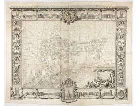 LEGENDRE, Jean-Gabriel. -  Plan général de Reims et de ses Environs Dédié au Roi.