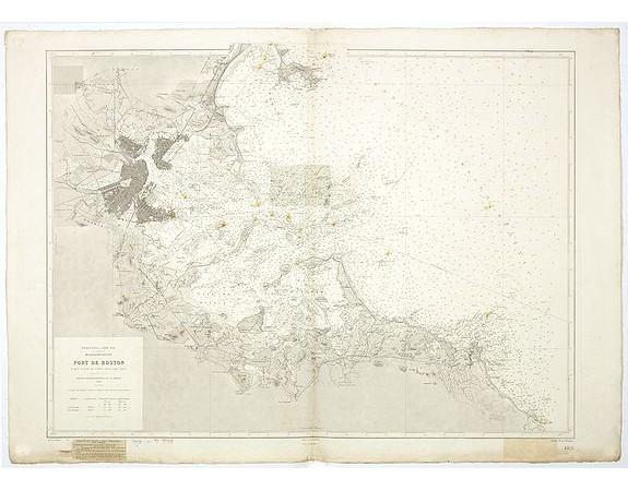 SERVICE HYDROGRAPHIQUE DE LA MARINE. -  Port de Boston d'après la carte de l'United Coast Survey.