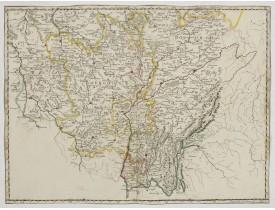 """SANSON, N. -  [Sanson """"Les Deux Bourgognes, Duché et Comté, la Bresse & la Souveraineté de Dombes, le Nivernois, &c.].?"""