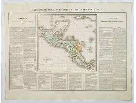 BUCHON, J. A. -  Carte Geographique, Statistique et Historique de Guatimala.
