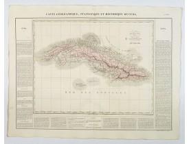 BUCHON, J. A. -  Carte Geographique, Statistique et Historique de Cuba.