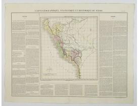BUCHON, J. A. -  Carte Geographique, Statistique et Historique du Perou.