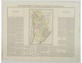 BUCHON, J. A. -  Carte Geographique, Statistique et Historique de Buenos-Ayres.