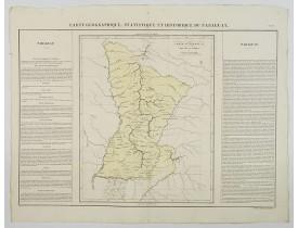 BUCHON, J. A. -  Carte Geographique, Statistique et Historique du Paraguay.
