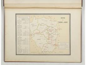 KERMABON, Adhémar. -  Atlas des lignes télégraphiques aériennes construites en France de 1793 à 1852. 1892.