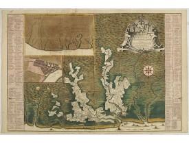 DE LETH, H. -  Algemene kaart van Suriname Algemeene kaart van de Colonie of Provintie van Suriname : met de rivieren, districten, ontdekkingen door militaire togten. . .
